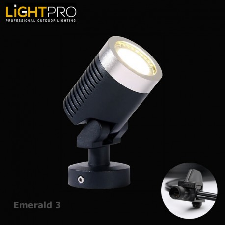 lightpro 12v emerald 3 3w led ip44 outdoor garden spotlight. Black Bedroom Furniture Sets. Home Design Ideas