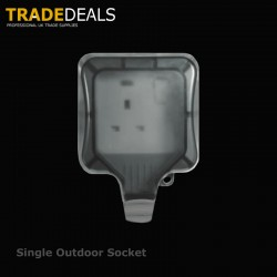 Weatherproof IP66 Single 13 Amp Switched Socket Outlet
