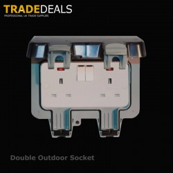 Weatherproof IP66 Twin 13 Amp Switched Socket Outlet