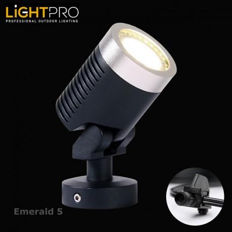 Lightpro 12V Emerald 5 5W LED IP44 Outdoor / Garden Spotlight